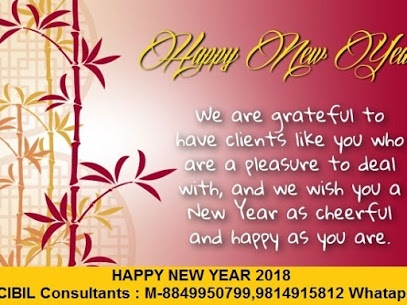 cibil consultants wish you a very happy and healthy new year 2018 we are grateful to have clients like you who are a pleasure to deal with and we wish you
